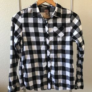 Faded Glory Plaid Long-sleeve Shirt